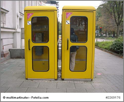 Vom aussterben bedroht: Telefonzellen