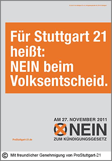 Ein Plakat zum Volksentscheid