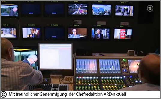 Live: eine Wahlsendung im deutschen Fernsehen