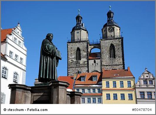 Denkmalgeschützt: der Marktplatz von Wittenberg