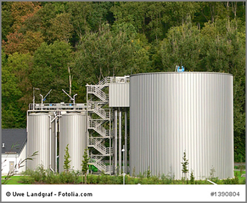 Machen und speichern Trinkwasser: Wasserwerke
