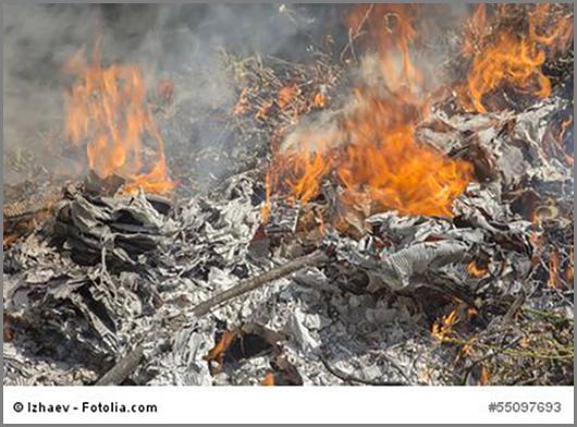 Müllverbrennung - wie sie nicht sein sollte