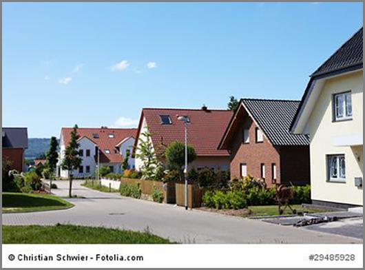 Im Flächennutzungsplan rot: Wohngebiete