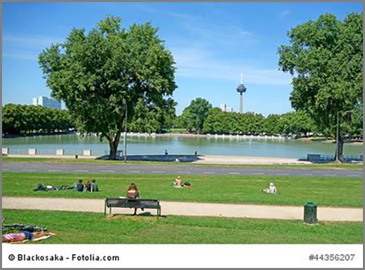 Im Flächennutzungsplan grün: Parks