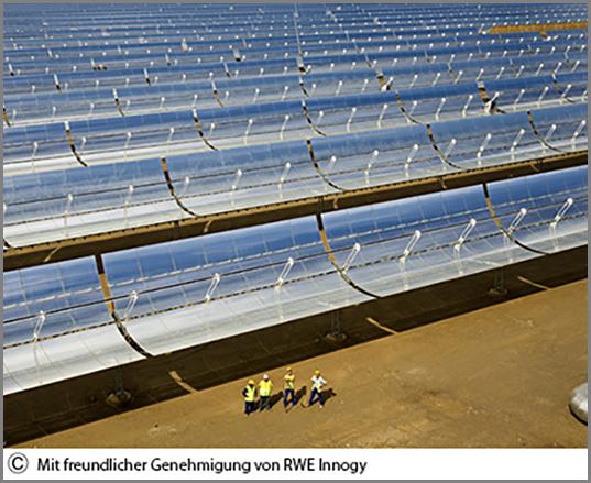 Ein Sonnenwärmekraftwerk in Südspanien