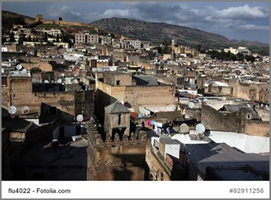 Die Medina (Altstadt) von Fes in Marokko