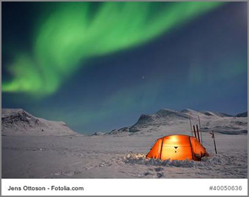 Ein Polarlicht im Norden von Schweden
