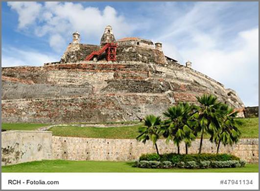 Eine alte Festung in der kolumbianischen Stadt Cartagena