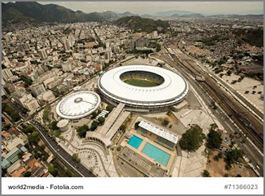 Das Maracana Fußballstadion in Rio de Janeiro