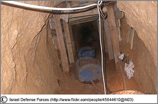 Ein Grenztunnel der Palästinenser bei Gaza
