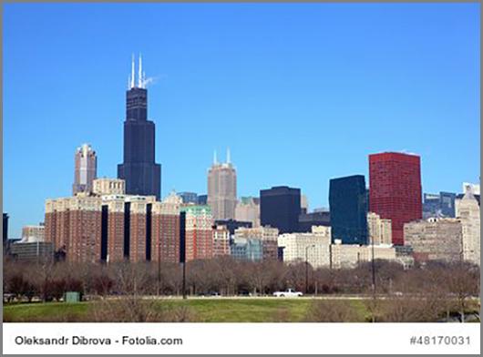Wird nach oben immer dünner: der Willis Tower in Chicago