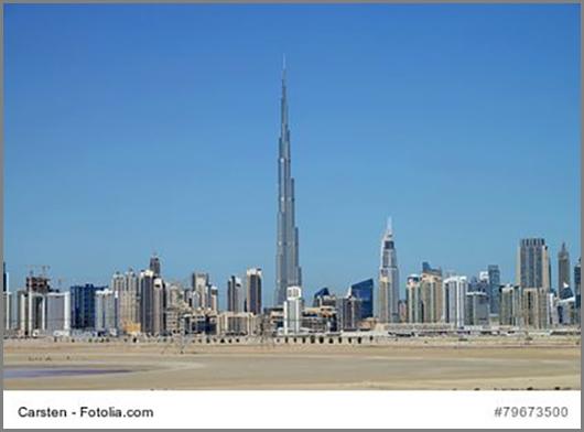 Das Burj Khalifa in Dubai: höher ist kein anderes Gebäude