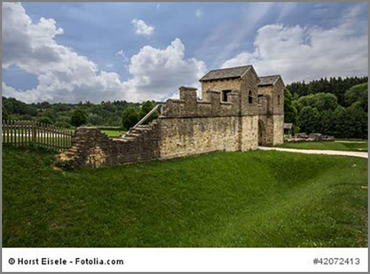 Eingang zum römischen Kastell Welzheim