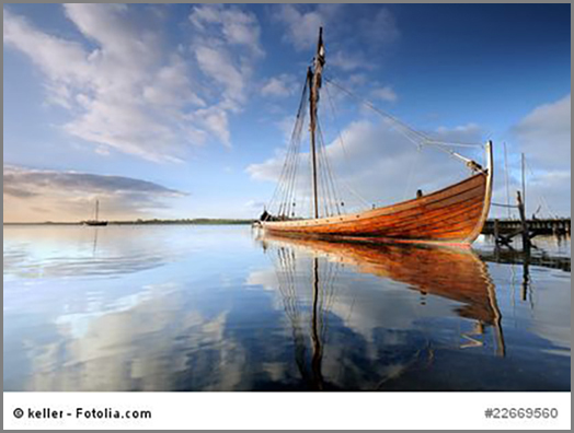 Nachbau eines Wickingerschiffs