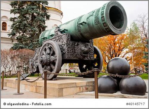 Die Zarenkanone in Moskau hat nie einen Schuss abgegeben