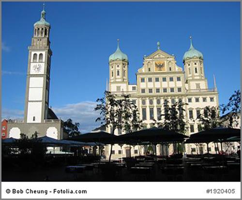 Echt Renaissance: das Rathaus von Augsburg