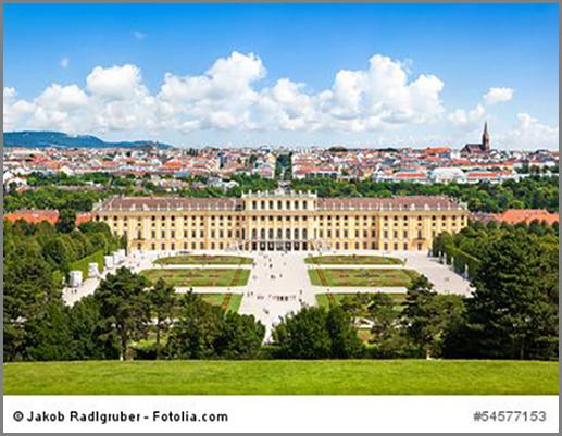 Typisch barock: das Schloss Schönbrunn in Wien