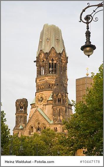 Eine Narbe mitten in Berlin: die zerbombte Gedächtniskirche