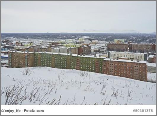 Gilt als nördlichste Großstadt der Erde: Norilsk in Russland