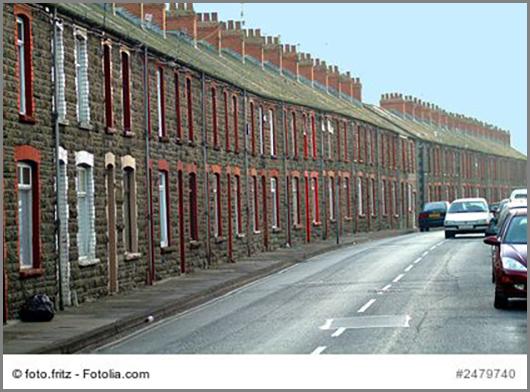 Ganz schön eng: Arbeiterwohnhäuser in England