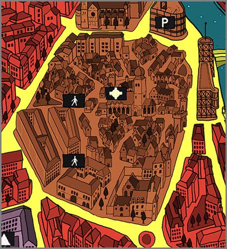 Bei der Bauleitplanung wird die Stadt in verschiedene Gebiete aufgeteilt