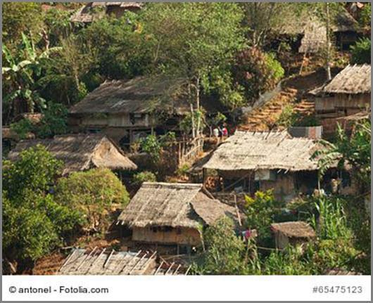 Burmesische Flüchtlinge im benachbarten Thailand