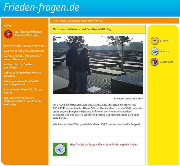Frieden-Fragen.de: Infos zum Thema Nationalsozialismus