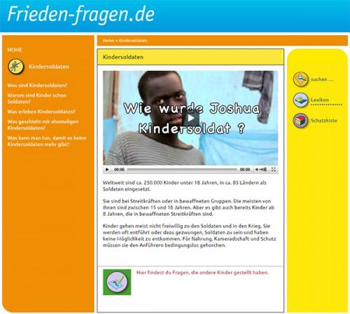 Frieden-Fragen.de: Kindersoldaten