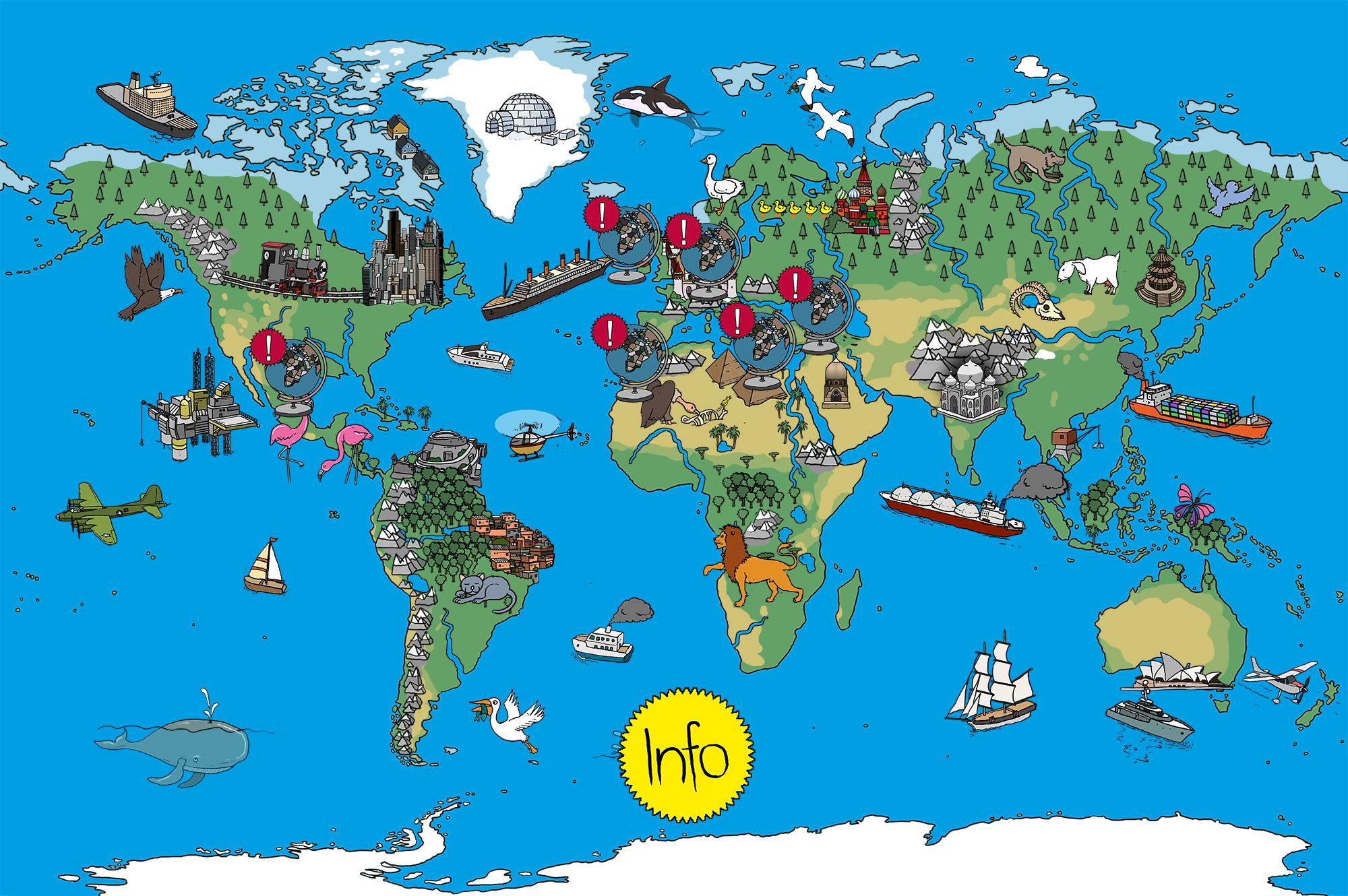 Anspruchsvoll Weltkarte Mit Städten Galerie Von