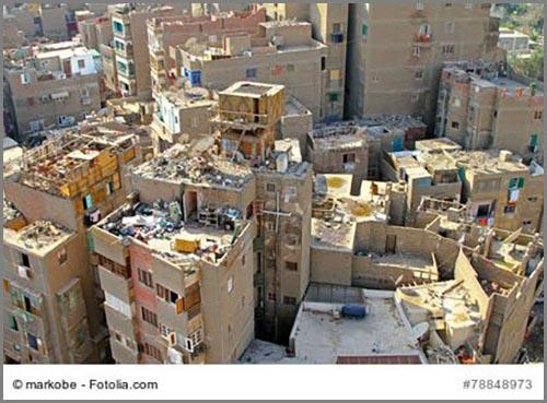 Ein ärmerer Stadtteil in der ägyptischen Hauptstadt Kairo