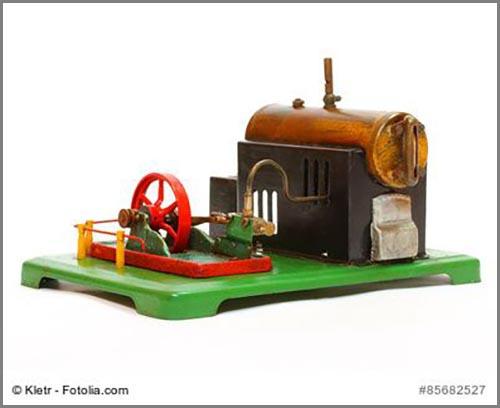 Eine der wichtigsten Erfindungen der Menschheitsgeschichte: die Dampfmaschine