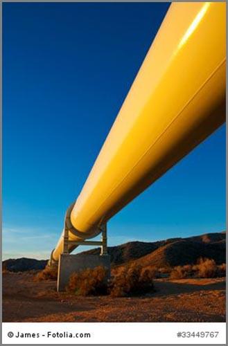 Transportieren Erdöl auf dem Landweg: Pipelines