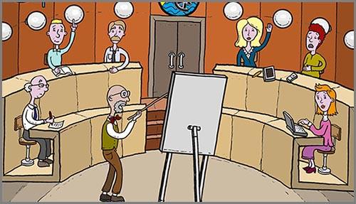 Eine Gemeinderatssitzung im Rathaus