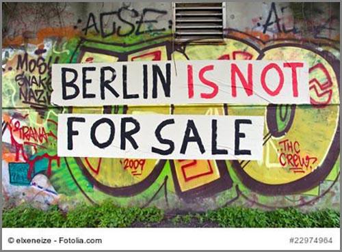 Protest gegen Gentrifizierung: ein Graffiti in Berlin