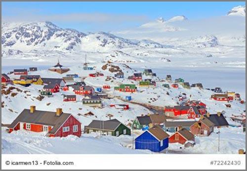Ziemlich bunt: eine Inuitsiedlung in Grönland