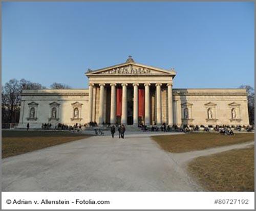Typisch Klassizismus: die Glyptothek in München