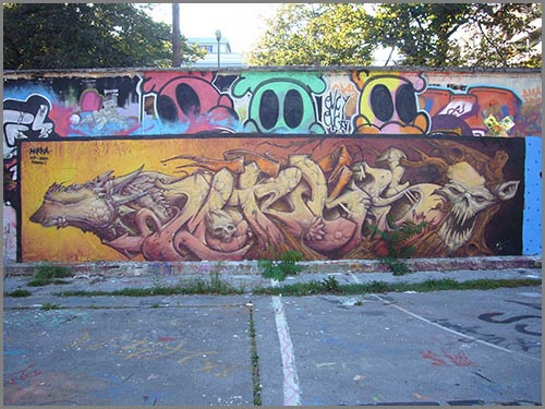 Kunst oder Vandalismus: Graffiti
