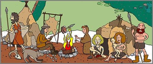 Ein altsteinzeitliches Nomadenlager