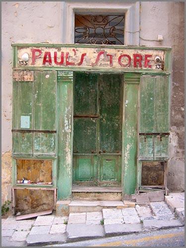 Hat seid langem geschlossen: ein alter Laden