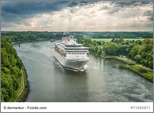 Eine Schifffahrtsstraße: der Nord-Ostsee-Kanal
