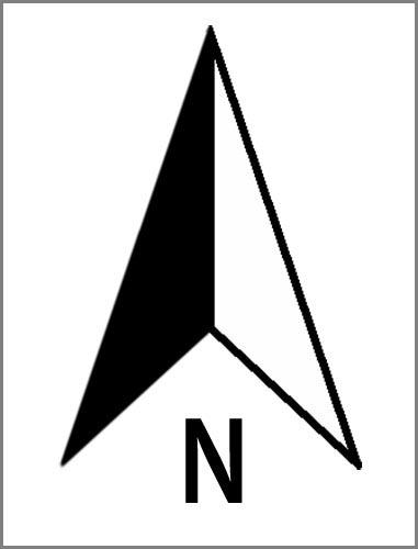 Ein Nordpfeil