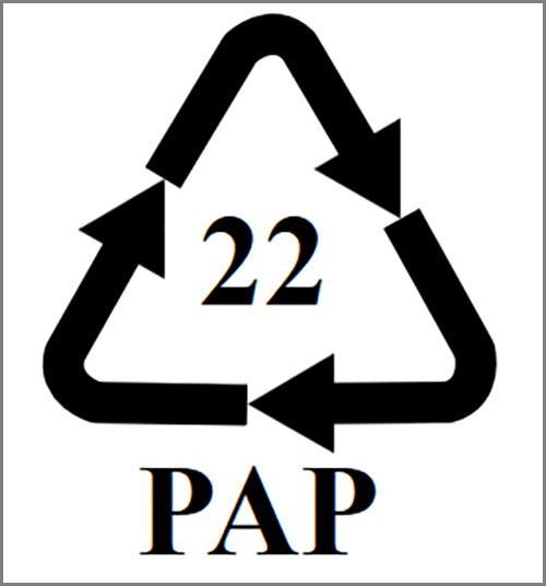 Sollte jeder kennen: das Zeichen für Recyclingpapier