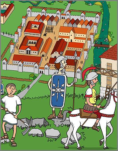 Gegen Feinde gut gewappnet: römische Kastelle