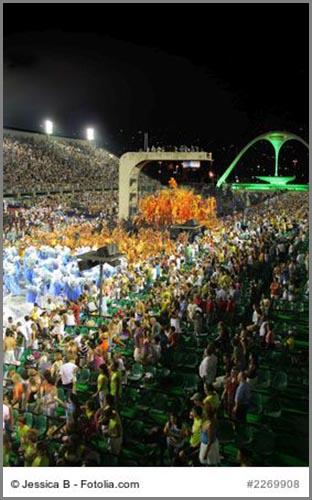 Größer als die meisten Fußballstadien: das Sambadrom in Rio de Janeiro