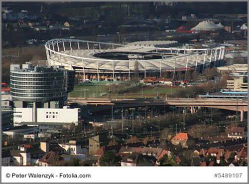 Werden meist auf Sonderflächen gebaut: Sportstadien
