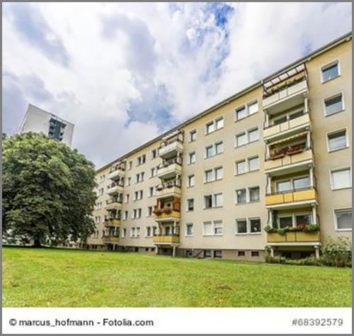 Von außen nicht zu erkennen: sozialer Wohnungsbau