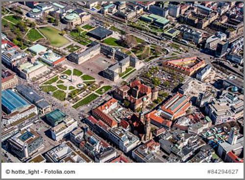 Wohl geordnet dank Stadtplanern: die Innenstadt von Stuttgart