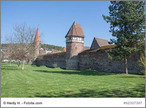 Die mittelalterliche Stadtmauer von Weil der Stadt