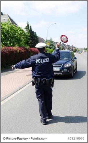 Kann teuer werden: eine Verkehrskontrolle