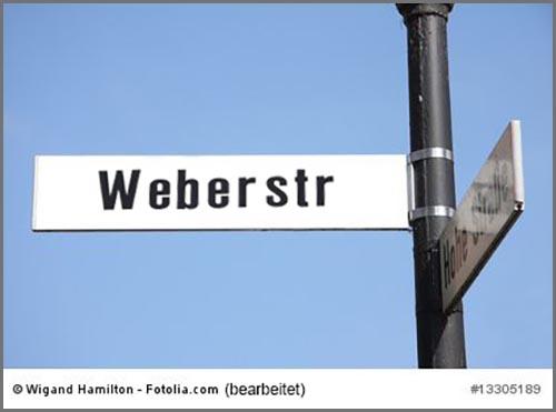 Gibt es in vielen deutschen Städten: eine Weberstraße